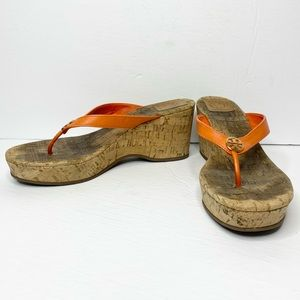 Tory Burch 'Suzy' Cork Wedge Thong Sandals